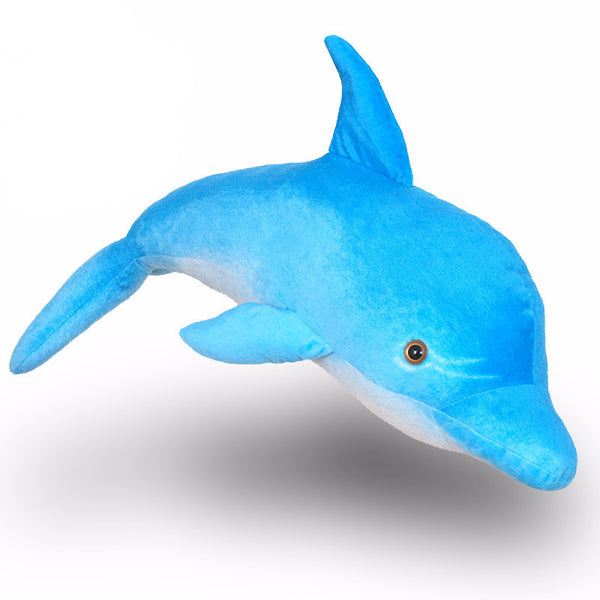 Lovely Blue Cute Dolphin Plush Toy -  76 cm