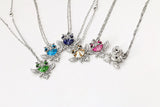 Statement Choker  Maxi Blue Crystal Owl On Branch Necklace and Pendant (Many Crystal Colours Available)