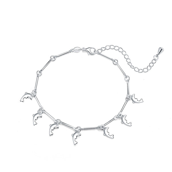 New Arrival Beautiful Silver Plated Noble Dolphin Bracelet