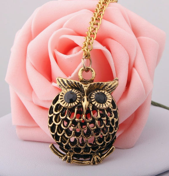 Delicate Cute Owl Small Pendant Necklace for Her
