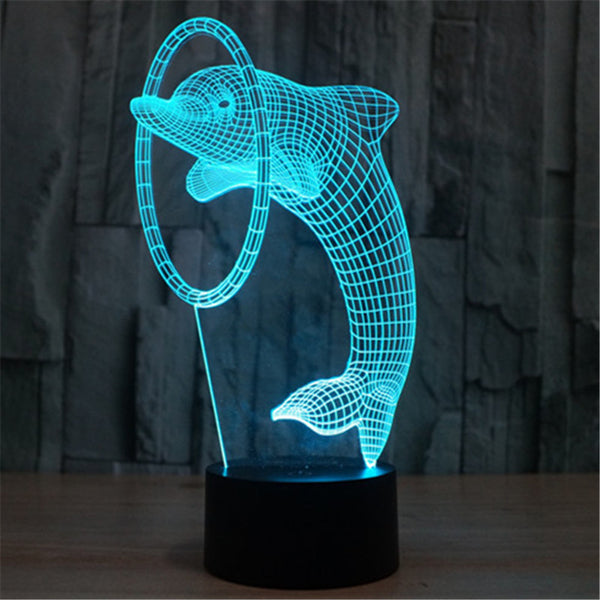 3D LED Dolphin Lamp - 7 COLORS CHANGEABLE