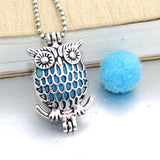 Owl Aromatherapy Diffuser Choker Necklace Pendant - Essential Oil Perfume Locket Necklace With Pad for Women