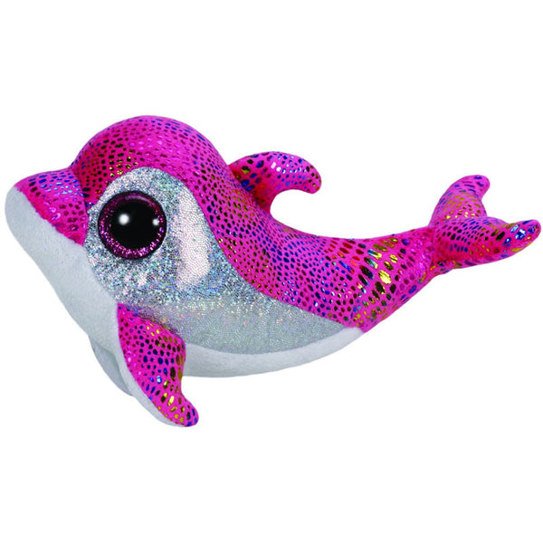Pink Big Eyes Dolphin Plush Toy