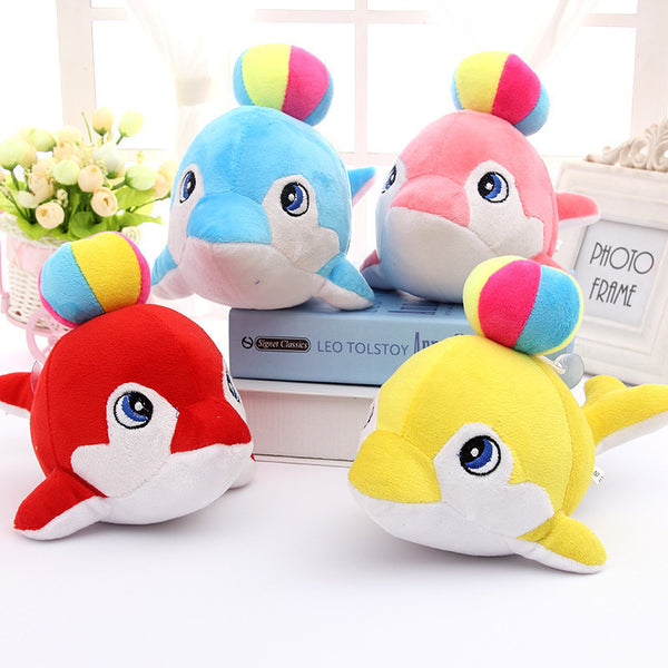 Cute Dolphin Plush Toy With Ball - 20cm 4 Colours To Choose From