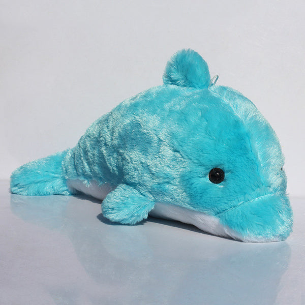 Blue Dolphin Plush Toy 45cm Dolphins Galore