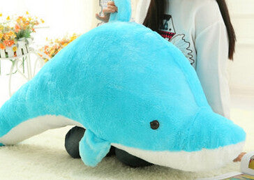 Large Dolphin Plush Toy - 45cm (pink or blue)