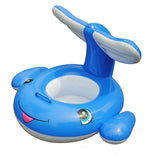 Inflatable Dolphin Water Cart with Tail Shade - For Kids