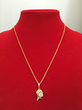 Beautiful 24K Gold Plated Crystal Dolphin Pendant Necklace