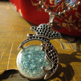 Bohemian Style Natural Stone Beads Pendant Dolphin Necklace