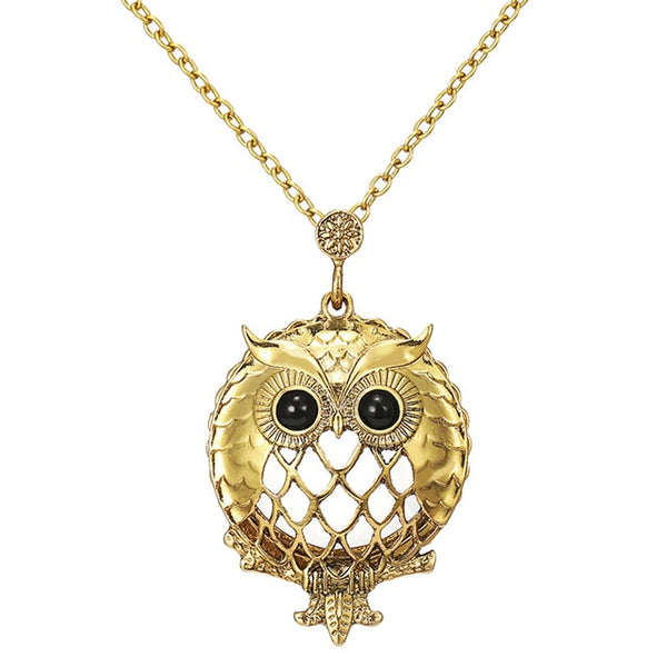 Antique Owl Pendant Necklace For Her