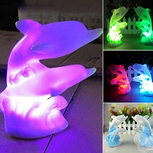 Cartoon Dolphin 7 Colour Changeable LED Night Light / Table Lamp