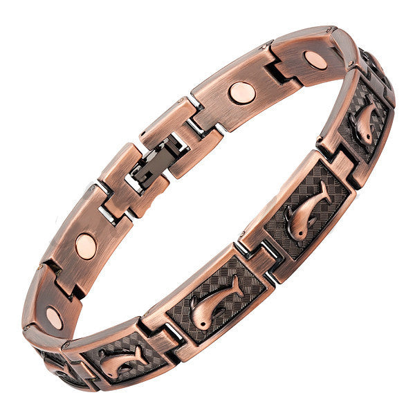 Magnetic Copper Plated Healing Dolphin Bangle