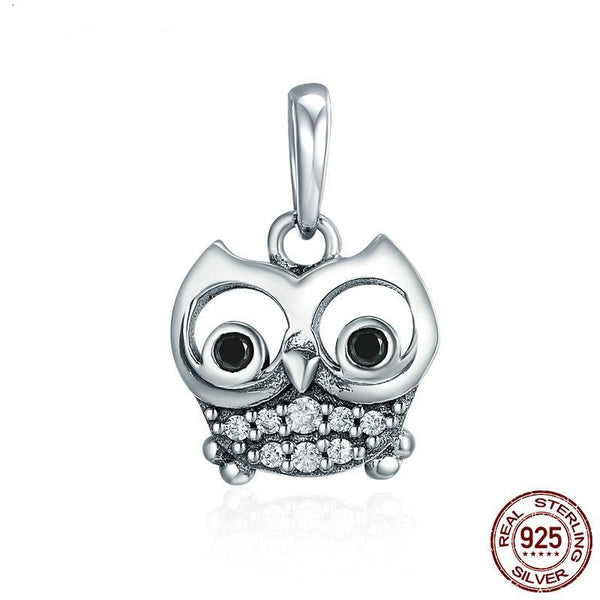 Stunning 925 Sterling Silver Owl Pendant Charms (Pendant Only)