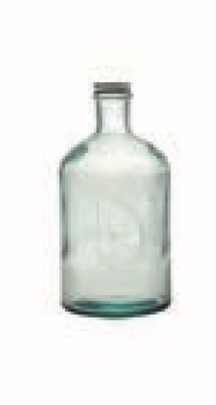 Glass Bottle With Screw Cap 1,4 L