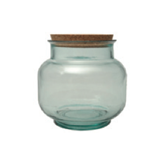 BEVERAGE JAR BOTTLE ECO FRIENDLY BULK STORAGE RETAIL RECYCLED GLASS
