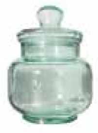 Cylindrical Jar 3L Glass Cap