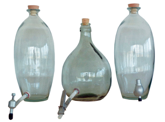 BEVERAGE GLASS JAR BOTTLE ECO FRIENDLY BULK STORAGE RETAIL SPOUTS