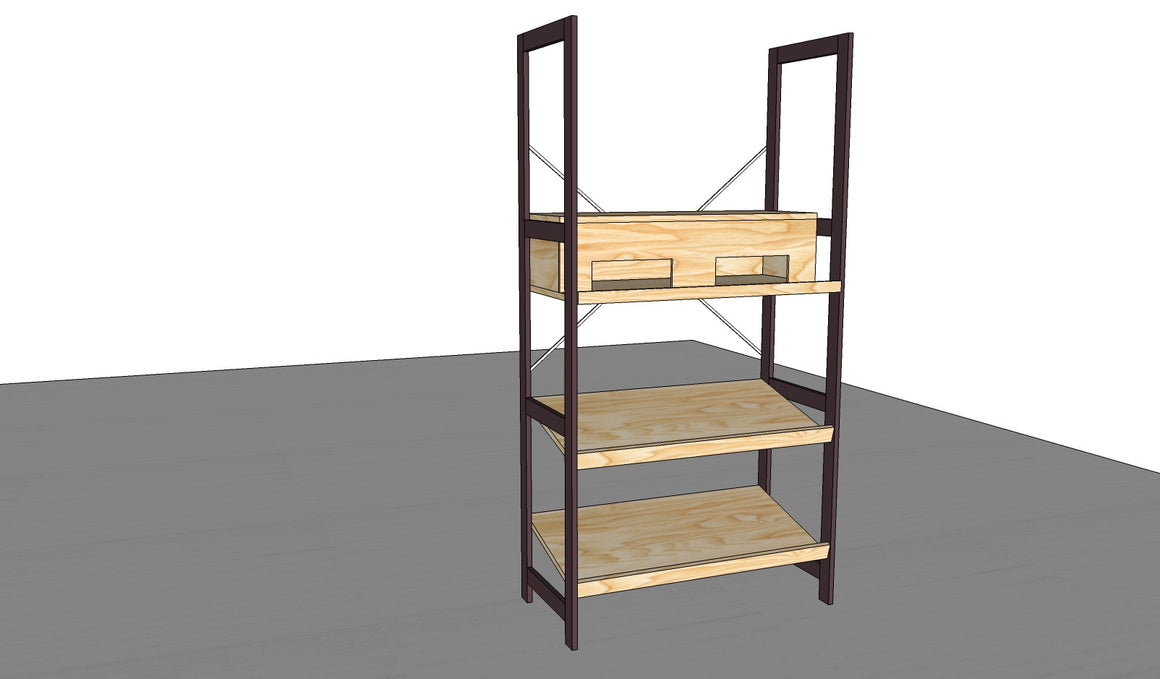 ECO FRIENDLY BULK STORAGE FURNITURE SHELVES RETAIL
