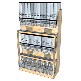 ECO FRIENDLY BULK STORAGE WOOD FURNITURE SHELVES RETAIL