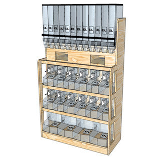 ECO FRIENDLY BULK STORAGE WOOD FURNITURE SHELVES RETAIL STORAGE