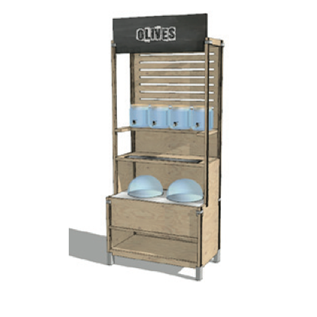 ECO FRIENDLY BULK STORAGE WOOD FURNITURE SHELVES RETAIL ORGANIC FOOD
