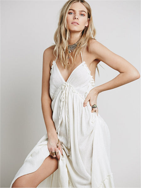 CA Mode Brand Halter Party Maxi Dress
