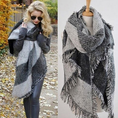 Oversized Blanket Scarf - Hourglass Apparel
