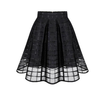 Layered Organza Style High Waist Skirt