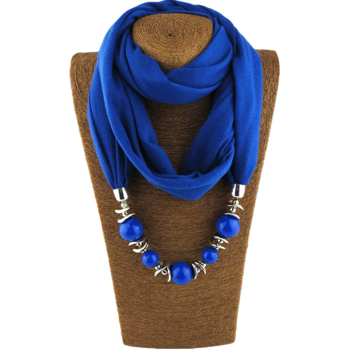 Beaded Scarf Necklace - Hourglass Apparel