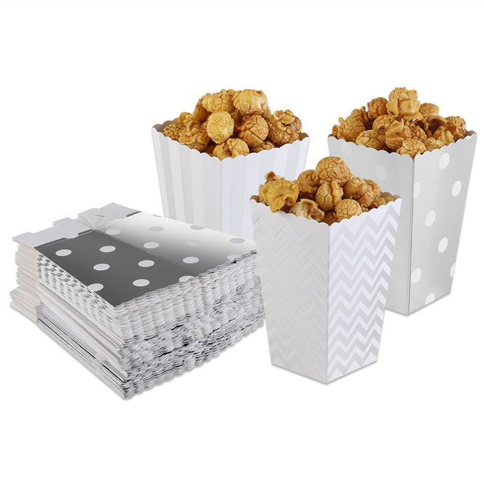 50 pieces Scalloped Edge Popcorn Boxes - Hourglass Apparel