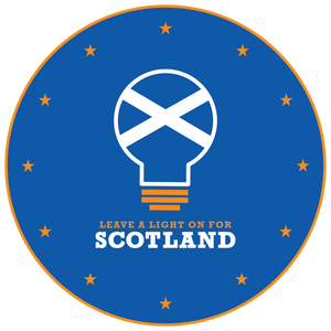'Leave a light on for Scotland' Pin Badge