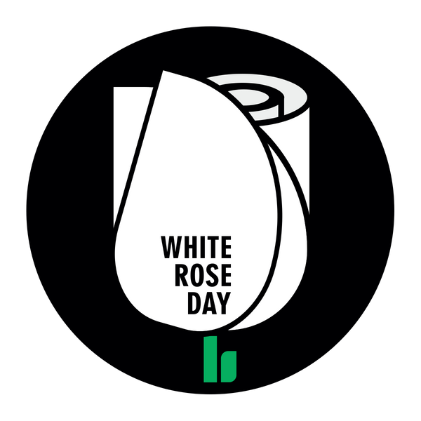 White Rose Day Pin Badge