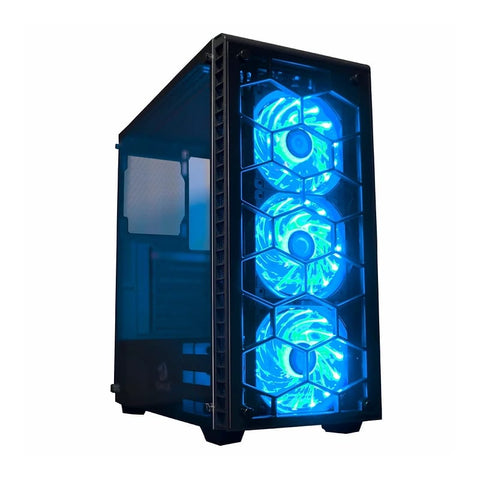 Redragon DAIMONDSTORM Pro Tempered Glass Front/Side3 x RGB FanATX/Micro ATX - Black
