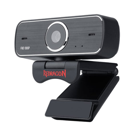 Redragon HITMAN 1080p72 FOVMount Bracket30 FPS PC Webcam - Black
