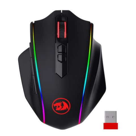 Redragon VAMPIRE ELITE Wireless 16000DPI8 ButtonErgonomic DesignP3335 Optical SensorType-C CableRGB Backlit Gaming Mouse - Black