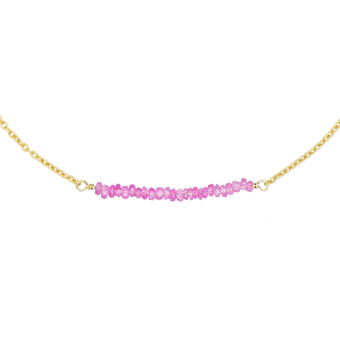 created necklace sapphire gold in white pendant diamonds with pink