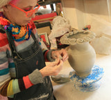 Mary Rose Making Rose Encrusted Vase