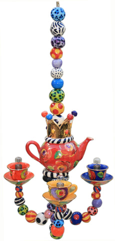 Three Armed Tea-set Chandelier - MaryRoseYoung