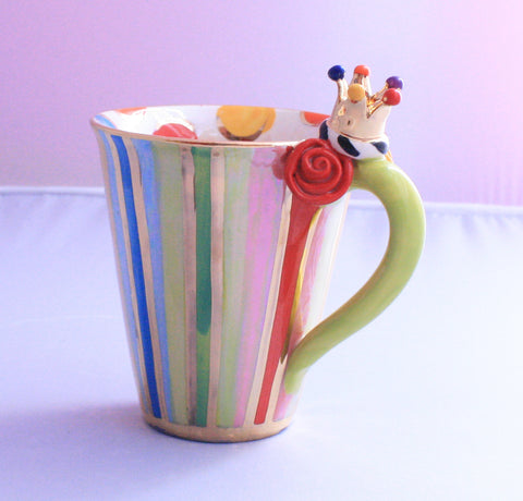 Crown Mug Stripes and Dots - MaryRoseYoung