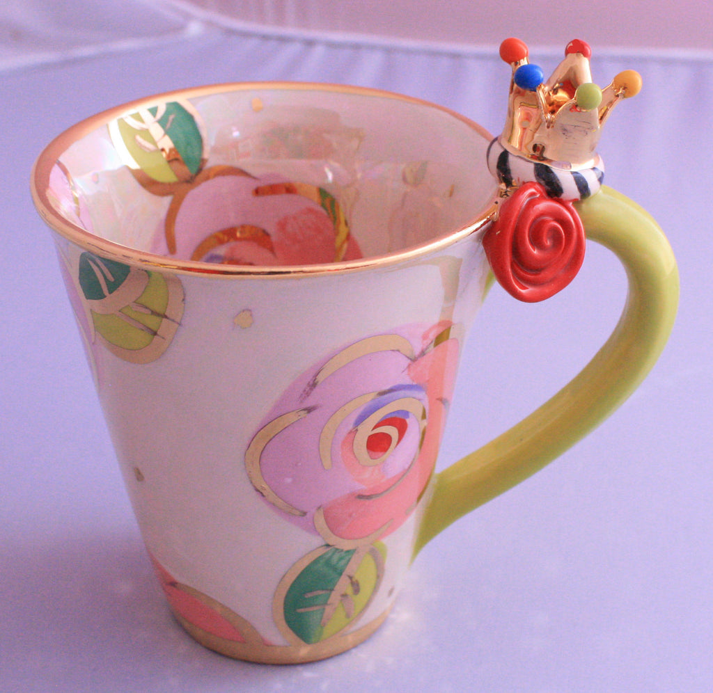 Crown Mug Pale Roses Pink - MaryRoseYoung