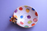 Crown Saucer Coloured Dots - MaryRoseYoung