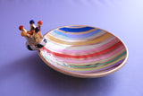 Crown Saucer Lustred Stripe - MaryRoseYoung