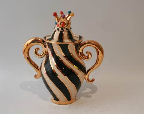 Crown Lidded Spice Pot - MaryRoseYoung
