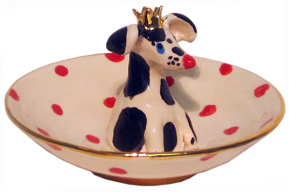 Little Dish with Crowned Dog - MaryRoseYoung