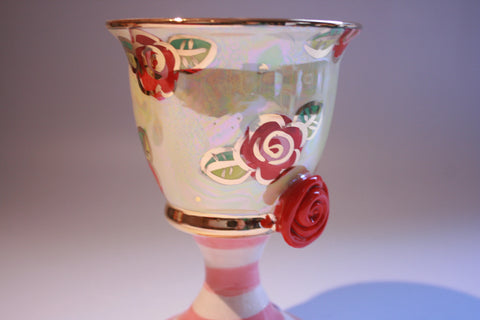 "Goblet ""Red Rosebud"" - MaryRoseYoung"
