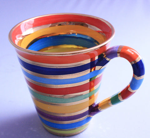 Conical Mug Banded Stripes - MaryRoseYoung
