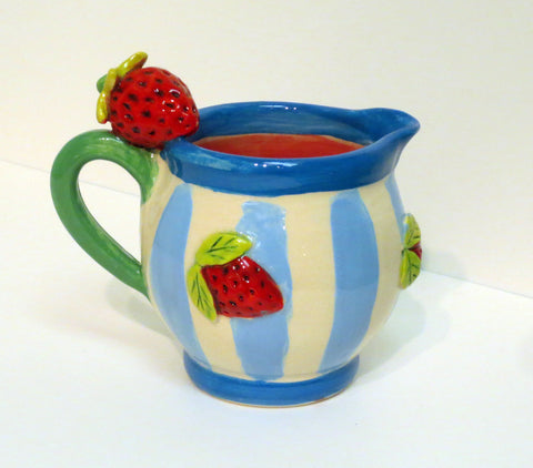 Little Strawberry Barrel Jug - MaryRoseYoung