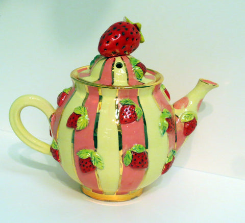Strawberry Medium Teapot - MaryRoseYoung