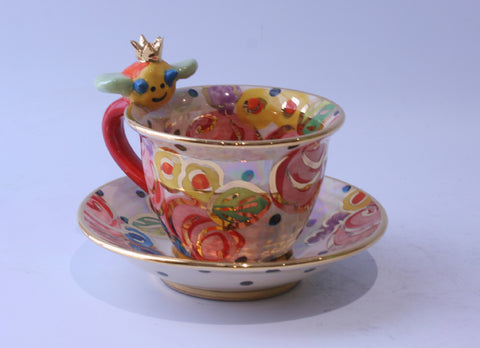 Bee Cup and Saucer - MaryRoseYoung