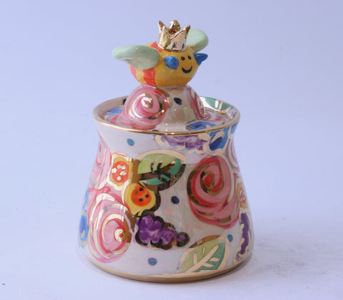 Bee Sugar Pot - MaryRoseYoung